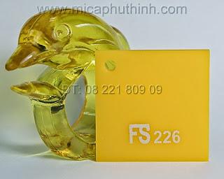 Mica màu vàng chanh FS 226