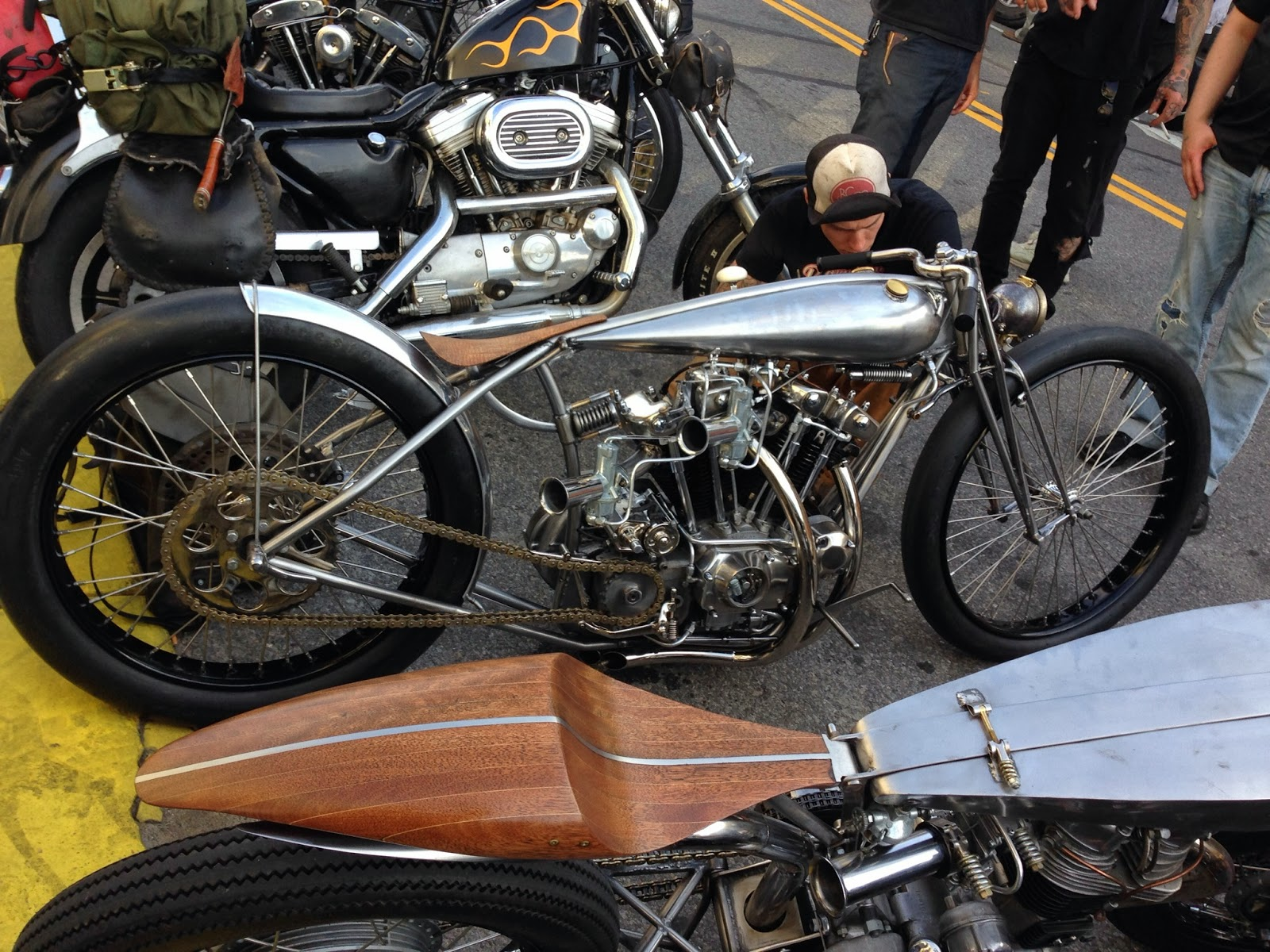 Incredible Retro Custom Cafe Racers at the Brooklyn Invitational Custom Bike Show 2013