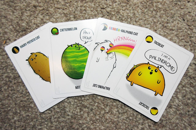 Exploding Kittens cat cards