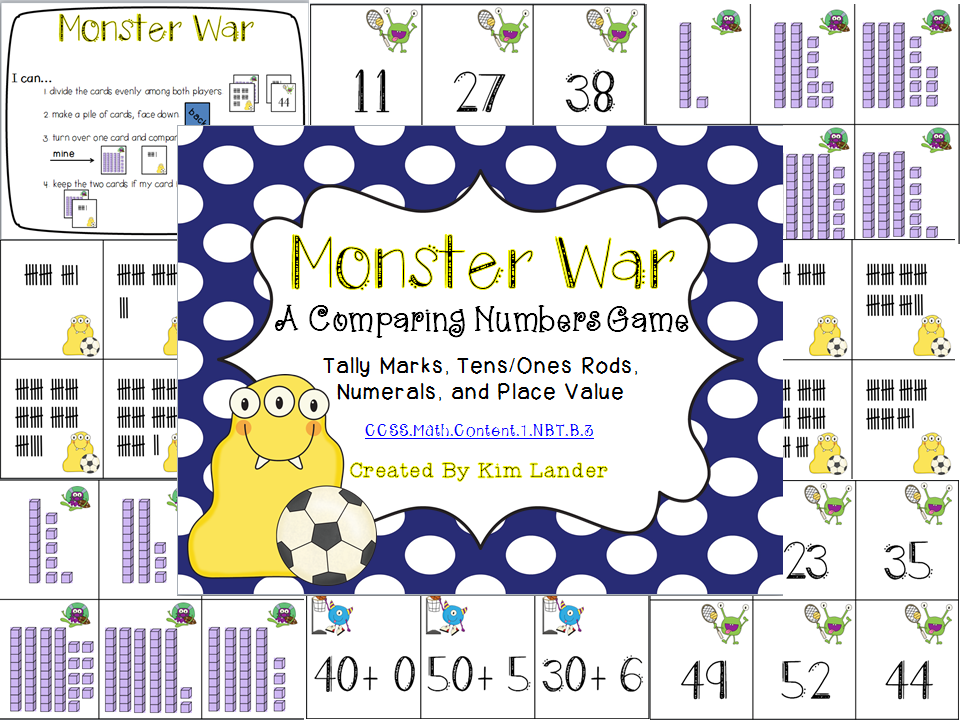 http://www.teacherspayteachers.com/Product/Monster-War-Comparing-Numbers-FREEBIE-Common-Core-Aligned-1194048