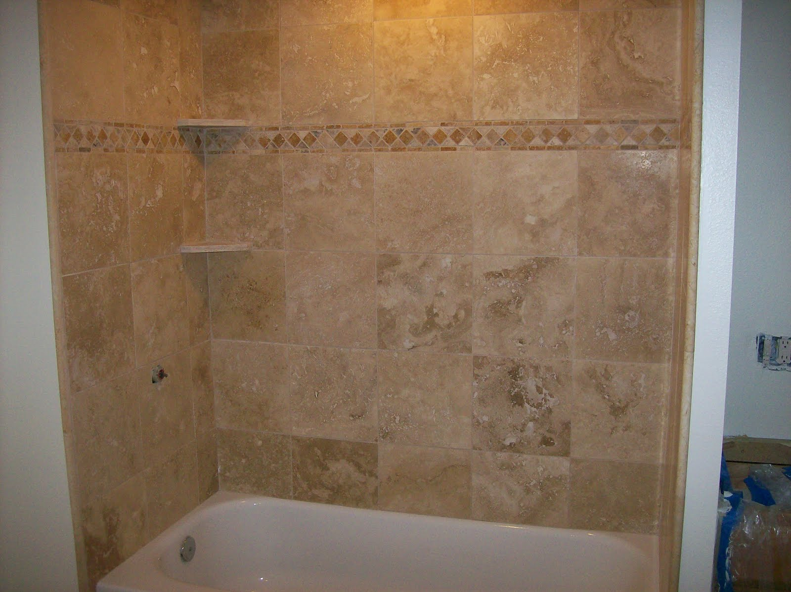 Tile stone marble wasatch tub surround - Tile shower surround ideas ...