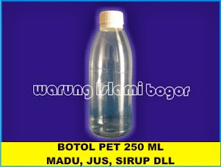 Botol PET Sirup 250 ml Natural