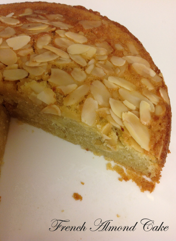 Cherry Top: French Almond Cake
