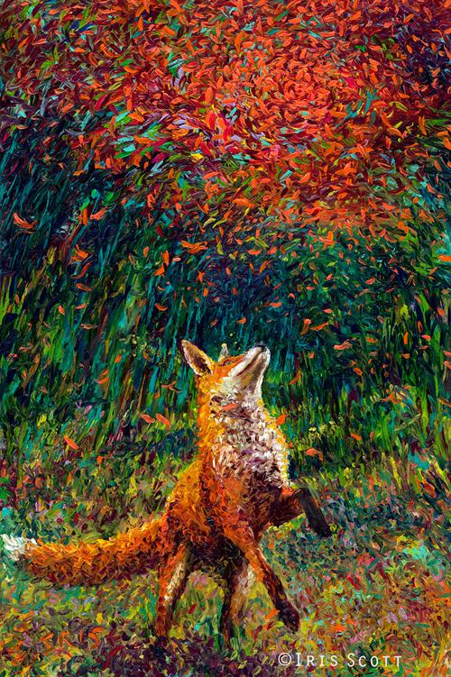 アイリス・スコットによって描かれたオイルペイント・フィンガー絵画