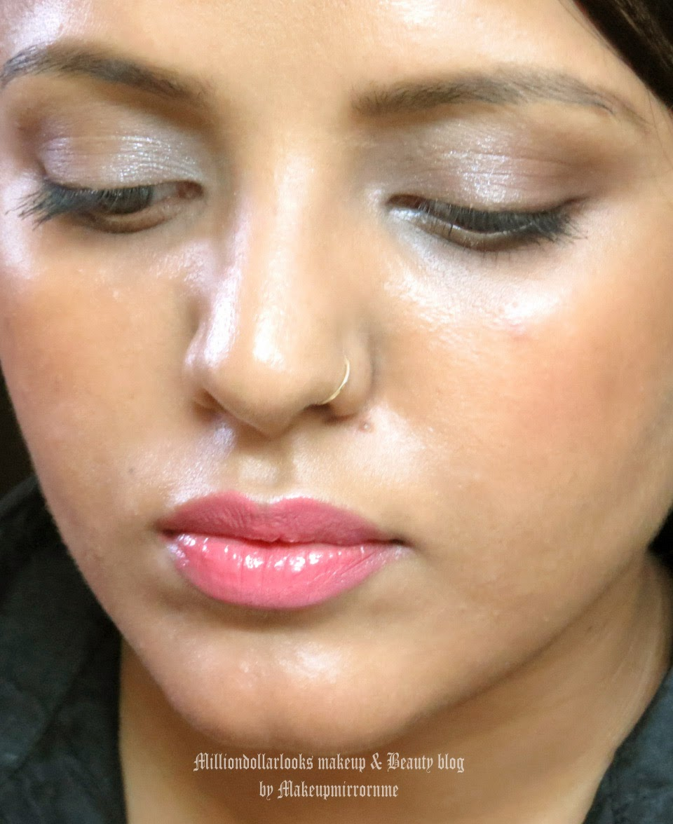 Office Chic: Natural Sophisticated enhancing makeup, Everyday office makeup look, Everyday office makeup, Indian makeup and beauty blog, Indian beauty blogger, Indian makeup blogger, MAC face and body foundation, MAC cremesheen lipstick fan fare, How to create a flawless and natural  base makeup
