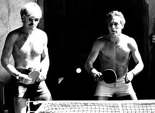 La partida de ping-pong de Robert Redford y Paul Newman
