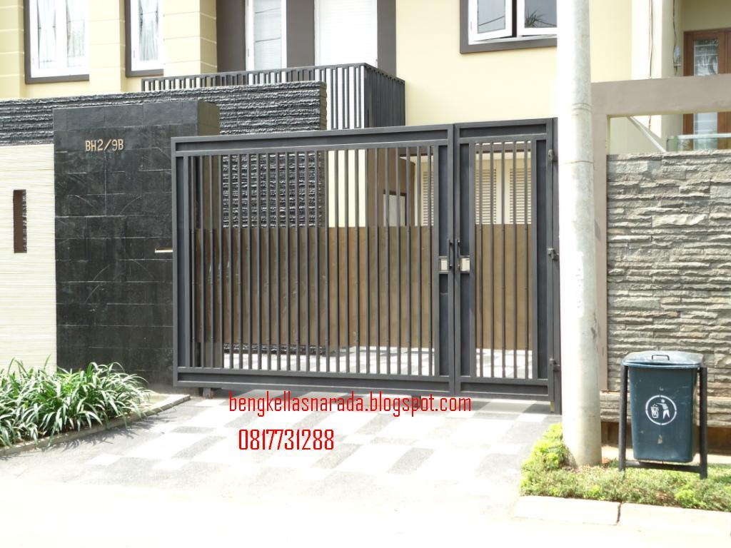 pintu dorong minimalis contoh gambar bengkel las dan