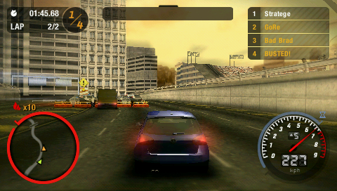 Media Portable Psp Game Need For Speed Most Wanted U