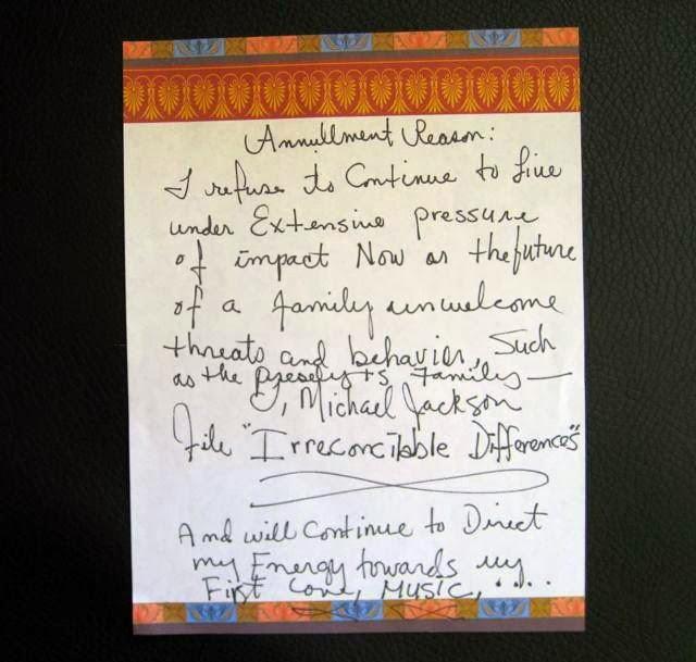 Michael Jackson Handwriting