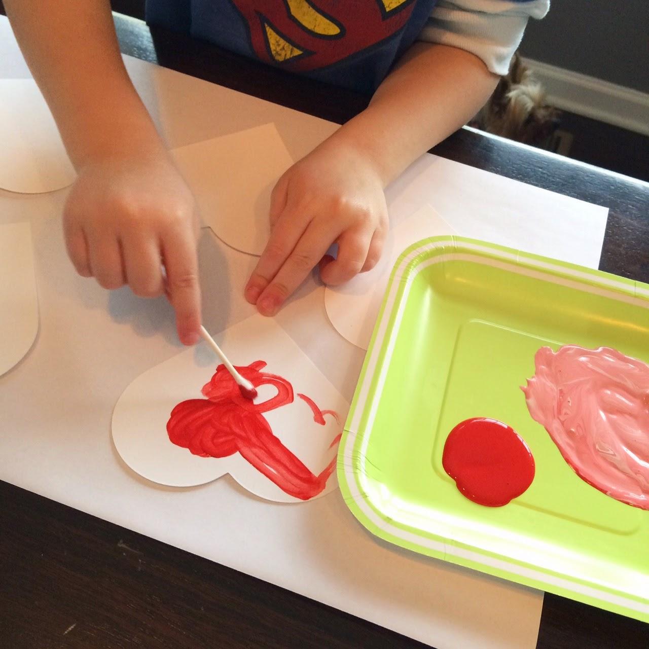 Valentine Kid Craft Heart Banner