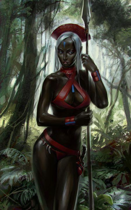 Tatiana Kirgetova  kir-tat deviantart ilustrações fantasia arte conceitual Garota negra