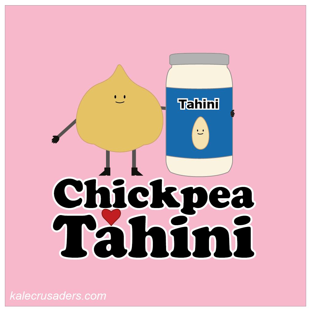 Chickpea <3 Tahini, Chickpea Hearts Tahini, Valentine's Day, Plant Power Couples