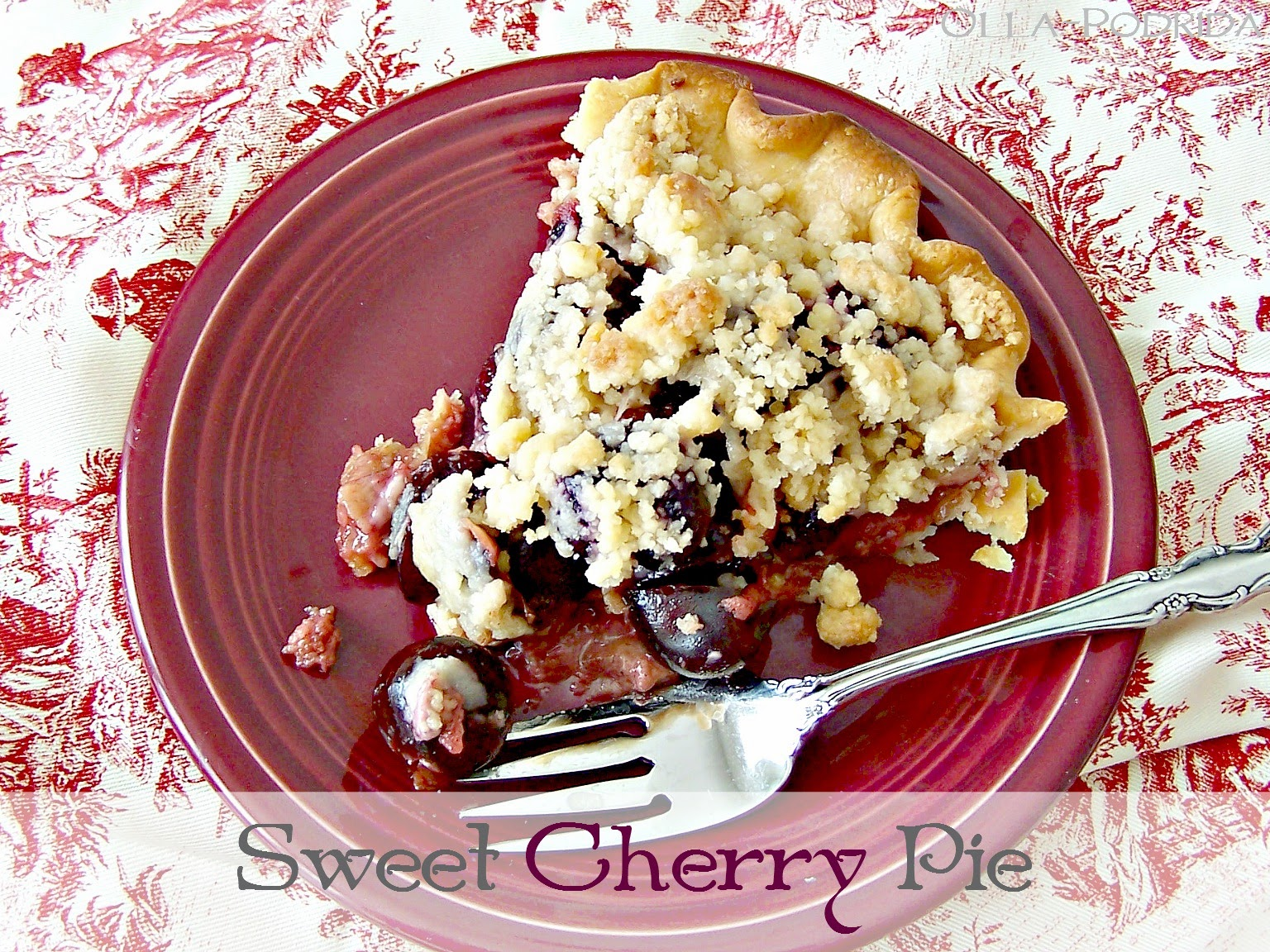 Olla-Podrida: Sweet Cherry Pie with Streusel
