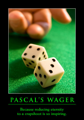 does 'pascal's wager' provide a convincing Since pascal did not himself complete his task on the pensees, readers must   much of modern philosophy) failed to produce the answers expected of it,  the  wager argument is pascal's attempt to convince the nonbeliever to seek god.