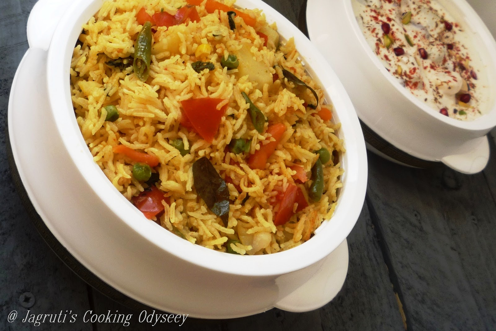 ... Cooking Odyssey: Green Peas and Potato Rice Pilaf ~ Mum's style