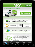 Asda Shopping App on the iPad