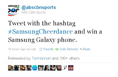 Win Samsung Galaxy S2 by Tweeting #SamsungCheerdance!