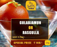 Buy Gulab Jamun or Rasgulla 1kg at Rs. 168 : Buytoearn