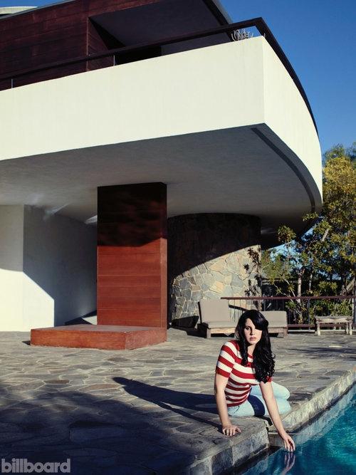 Lana Del Rey smoulders at the poolside for Billboard October 2015
