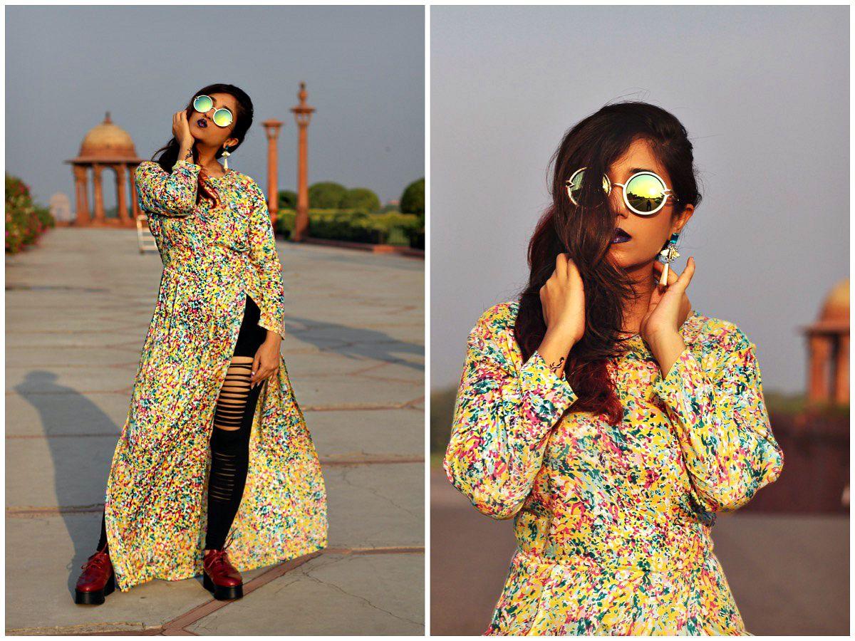 long designer kurti slit tops online