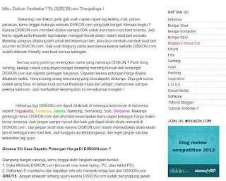 Lomba Blog Review DISKON.com