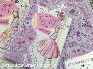 agenda e caderno personalizado Bisiteen