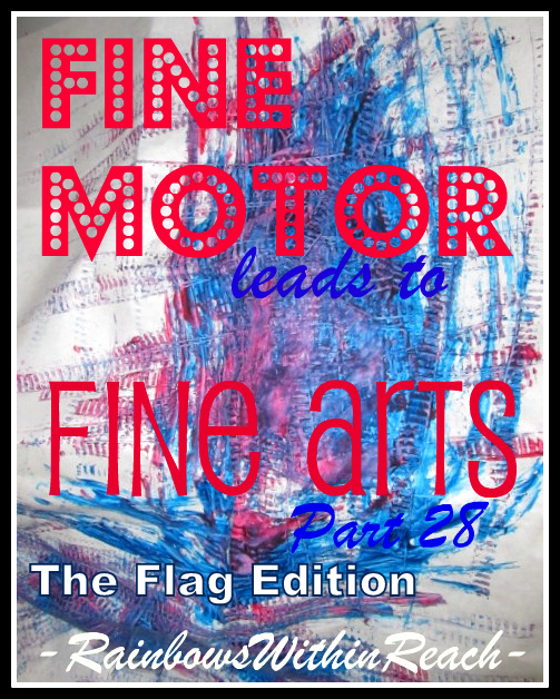 photo of: Fine Motor Leads to Fine Arts Party 28, The Flag Edition