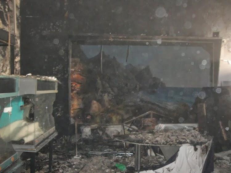 """Сгоревший """"Зооцентр Питон"""" в городе Комсомольск на Амуре"""