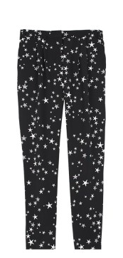 silk star print pants