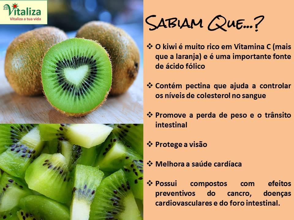 benefícios do kiwi fruta