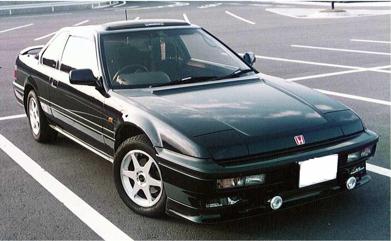 Honda Prelude III, napęd na przód, FWD, usportowione coupe, zdjęcia, japoński, black, front, czarny kolor, przód