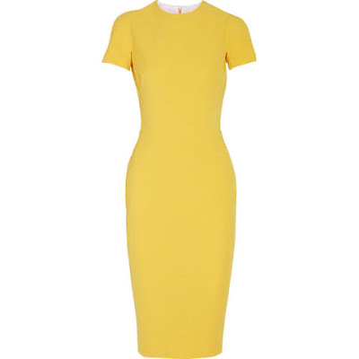 grife victoria beckham vestido amarelo