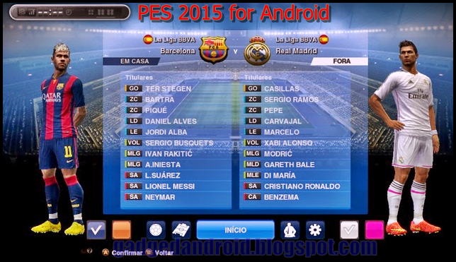 Download PES 2015 Apk + Data Full Transfer