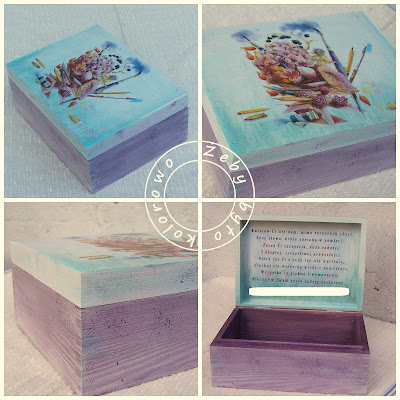 turkusowe pudełoko