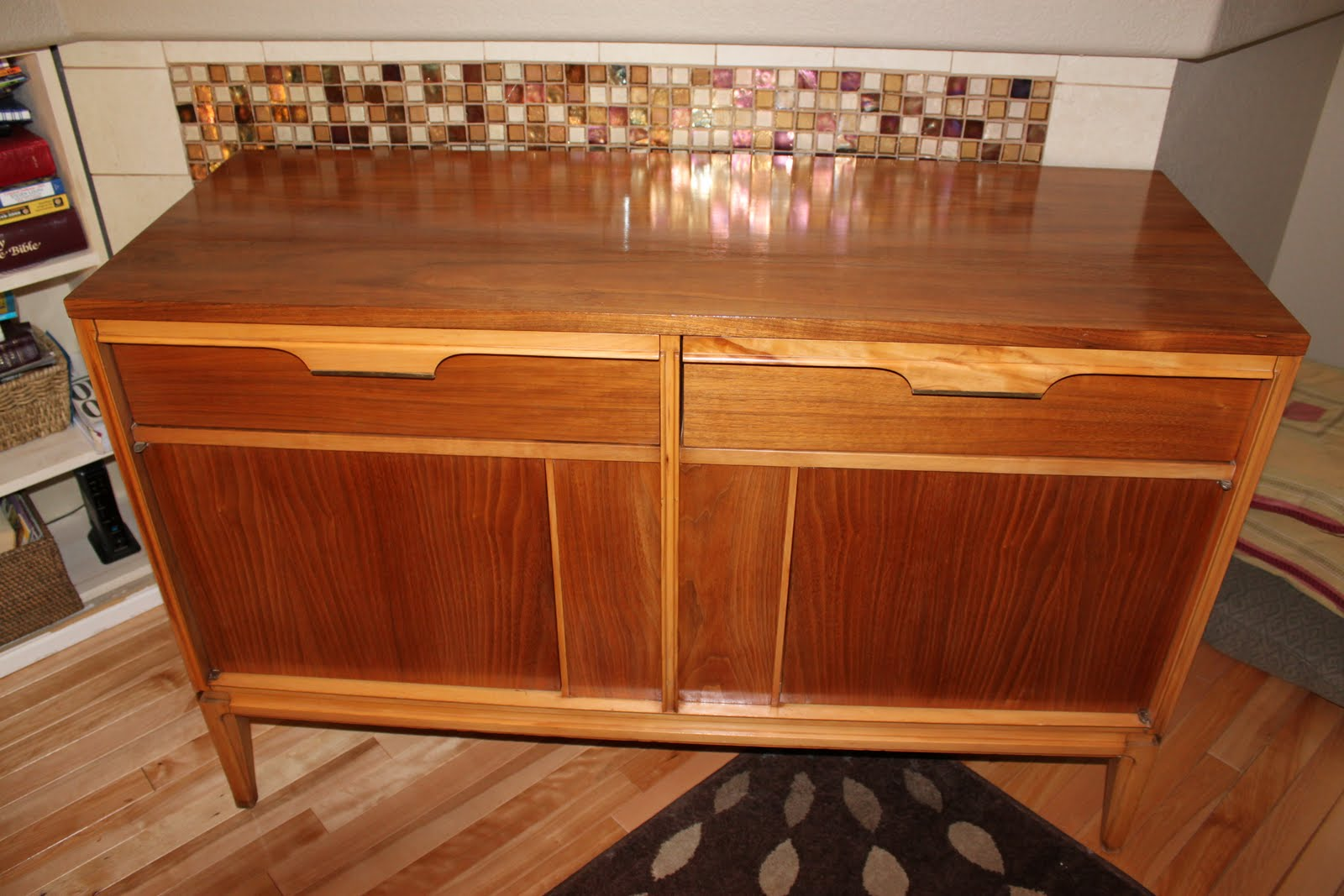 she finds retro beautifully refinished buffet sold and. Black Bedroom Furniture Sets. Home Design Ideas