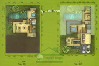 Properti-Denah-Cluster-Viridis-Montis-Hilltop-Tipe-Villosa-Sentul-City