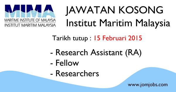 Jawatan Kosong MIMA 2015 - Institut Maritim Malaysia Terkini