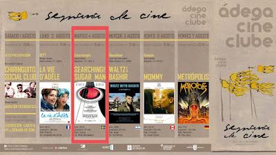21:45 PROYECCIÓN ESTEROCOPÍA + SEARCHING FOR SUGAR MAN 4ago'15 en Salón García (cine)