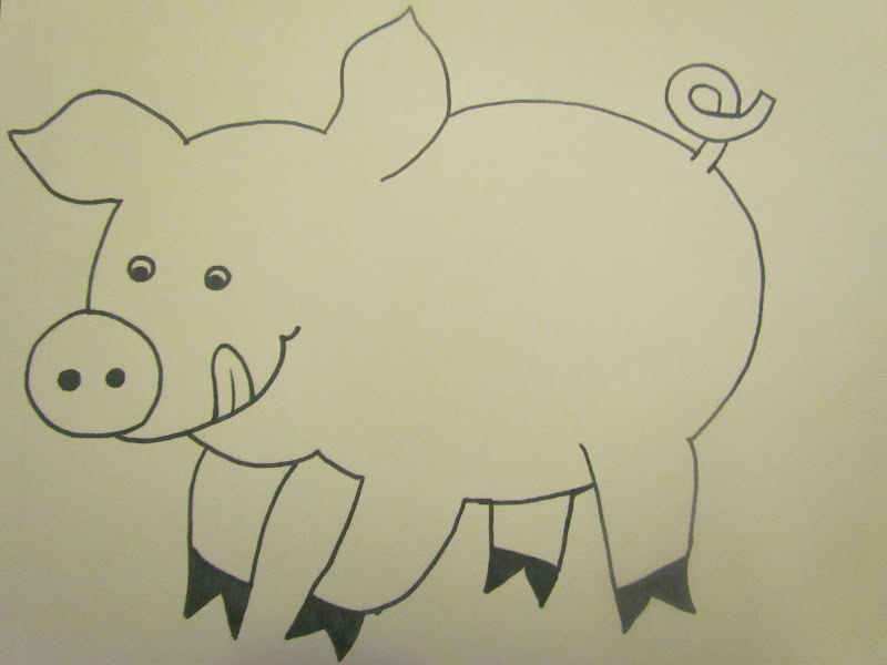 Babies toddlers and preschoolers oh my down on the farm for Pig template for preschoolers