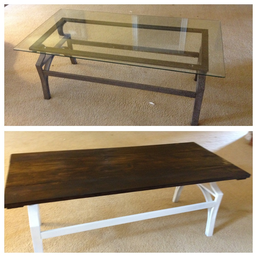 Cupcakes and corndogs coffee table redo diy for Redo table top ideas