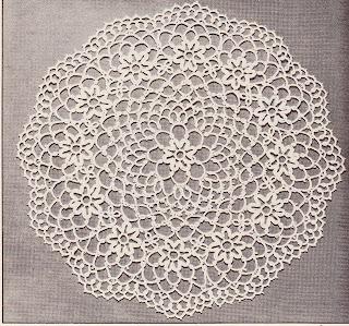 Crochet Flower Doily Pattern : FLOWER DOILY PATTERNS Lena Patterns