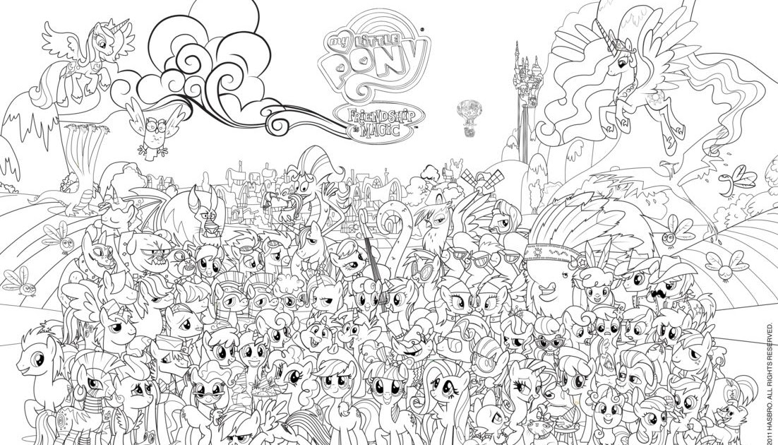 Equestria Daily MLP Stuff Colorable