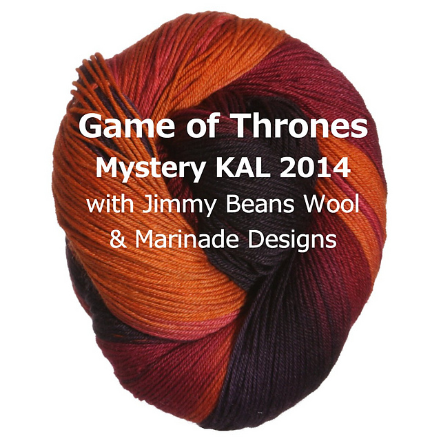 http://jimmybeanswool.blogspot.com/2014/04/game-of-thrones-mystery-knit-long-2014.html