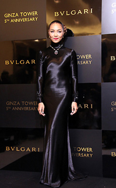Crystal Kay steps out for Bulgari in Ginza. Looks 99,999 HP classy and fabulous | randomjpop.blogspot.co.uk