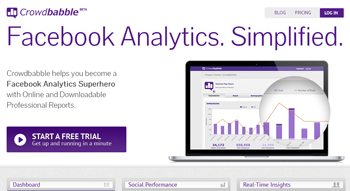 analiza tu cuenta de Facebook con Crowdbabble
