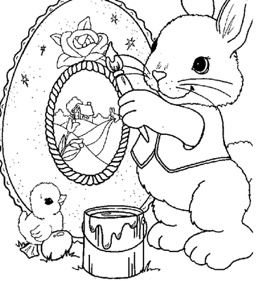 Easter's Drawings for Coloring, part 1