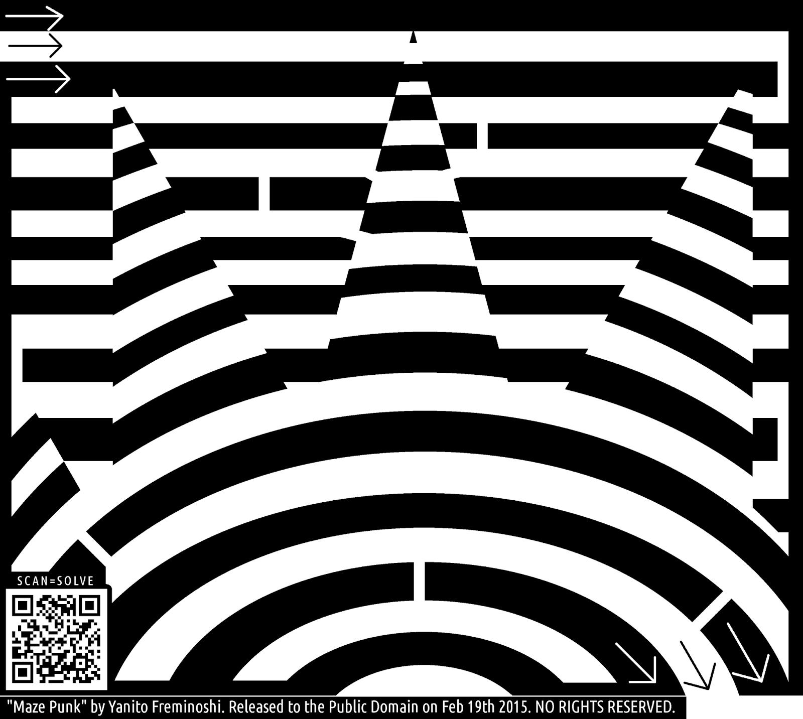 maze of a punk pattern