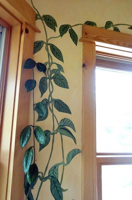 Hoya Vine Mural, Hoya vine, vine mural