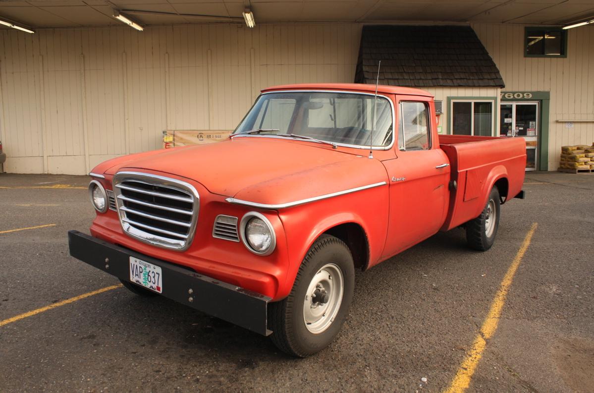 Old parked cars lark based pickup 1962 studebaker champ