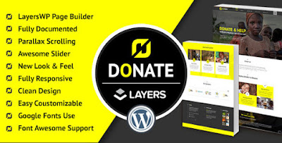 Free Download Donate Nonprofit WordPress LayersWP Theme